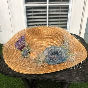 Toucan Flowers Netting Church Hat